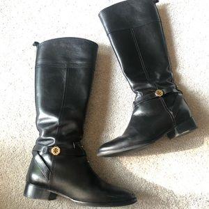 Tory Burch Size 9 Brita Tall Riding Boots Logo